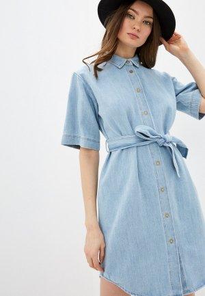 Платье джинсовое Forte. Цвет: голубой