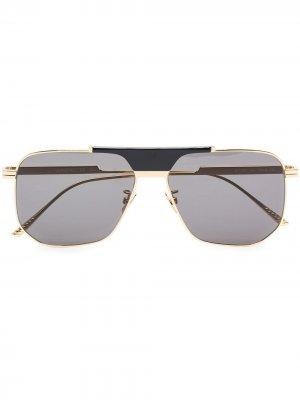 BOTTEGA SQR METAL SUNGLASSES GREY Veneta Eyewear. Цвет: 001 желтый-желтый-grey