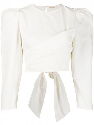 Блузка Eden с объемными рукавами Ulla Johnson. Цвет: белый