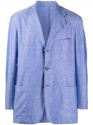 Пиджак свободного кроя Kiton. Цвет: синий