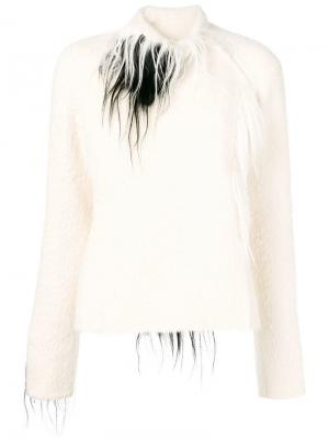Куртка с деталями в стиле 2000-х Gianfranco Ferré Pre-Owned. Цвет: белый