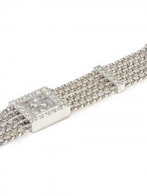 Золотой браслет Happy с бриллиантами Chopard Pre-Owned. Цвет: серебристый