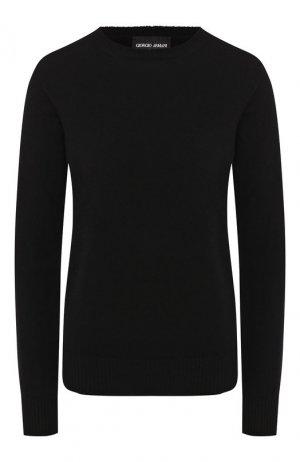 Кашемировый пуловер Giorgio Armani. Цвет: черный