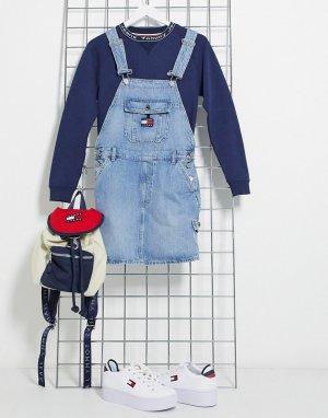 Синее джинсовое платье -Голубой Tommy Jeans