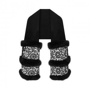 Кашемировая шаль Valentino. Цвет: чёрный
