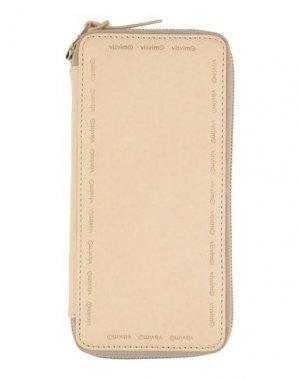 Бумажник VISVIM. Цвет: песочный