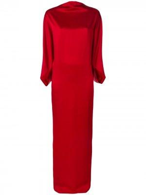 Драпированное платье с вырезом-лодочкой Chalayan. Цвет: красный