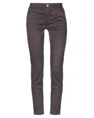 Повседневные брюки MAISON CLOCHARD. Цвет: темно-коричневый