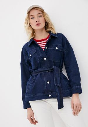 Куртка джинсовая Gant. Цвет: синий