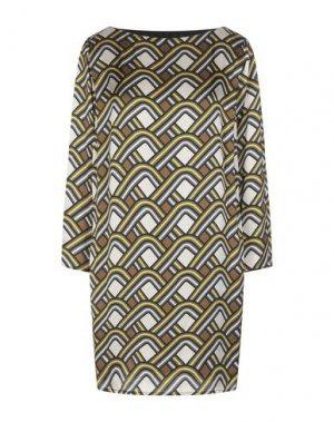 Короткое платье ATOS LOMBARDINI. Цвет: бежевый