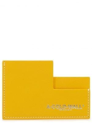 Визитница A COLD WALL. Цвет: желтый
