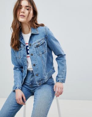 Джинсовая куртка в стиле 90-х Rider Lee. Цвет: синий