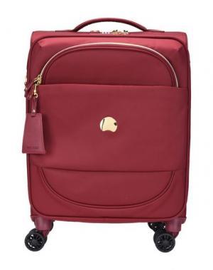 Чемодан/сумка на колесиках DELSEY. Цвет: красно-коричневый