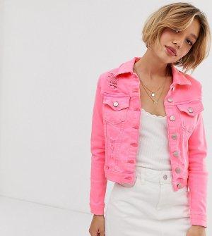 Неоново-розовая джинсовая куртка -Розовый Parisian Petite
