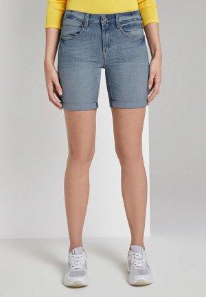 Шорты джинсовые Tom Tailor Alexa Bermuda. Цвет: голубой