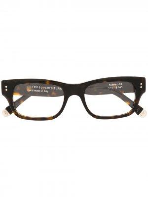 Солнцезащитные очки Numero 74 Retrosuperfuture. Цвет: коричневый