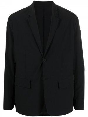 Пиджак с нашивкой-логотипом Moncler. Цвет: черный