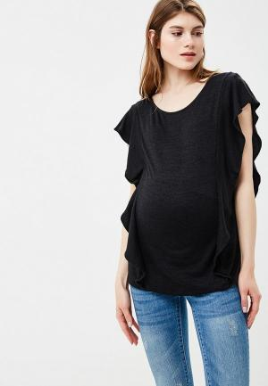 Футболка Gap Maternity. Цвет: черный