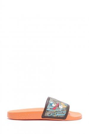 Пантолеты с принтом Disney x Gucci. Цвет: оранжевый