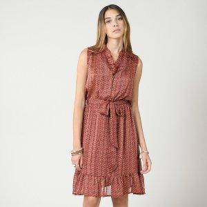 Платье LaRedoute. Цвет: оранжевый