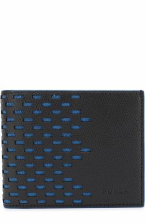 Кожаное портмоне с отделениями для кредитных карт Furla. Цвет: черный