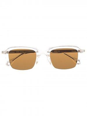 Солнцезащитные очки Studio в прозрачной оправе Etudes. Цвет: белый