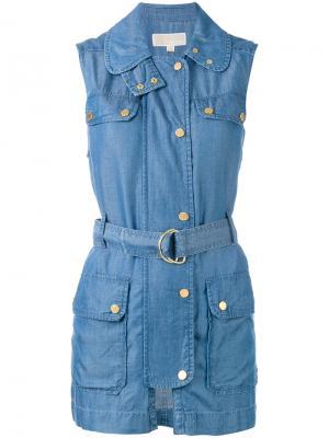 Джинсовая куртка без рукавов Michael Kors. Цвет: синий