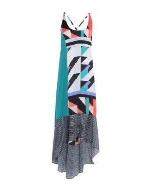 Длинное платье PIANURASTUDIO. Цвет: зеленый