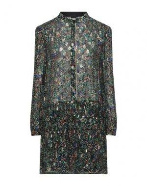 Короткое платье PINKO. Цвет: зеленый