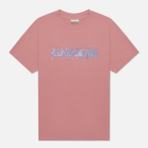 Женская футболка Silea Napapijri. Цвет: розовый