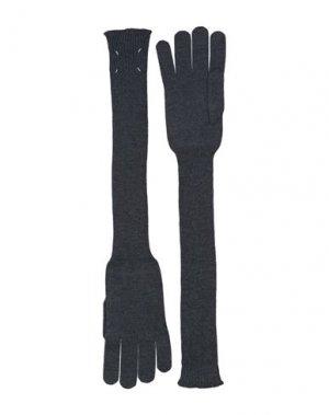 Перчатки MAISON MARGIELA. Цвет: серый