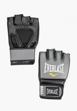 Перчатки боксерские Everlast Pro Style Grappling. Цвет: серый