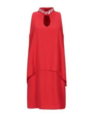 Короткое платье EDAS. Цвет: красный