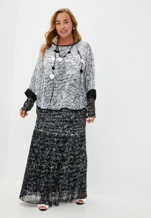 Костюм Verda майка, туника, юбка, ожерелье. Цвет: разноцветный