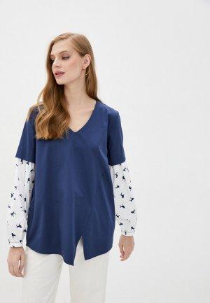 Блуза Adzhedo. Цвет: синий