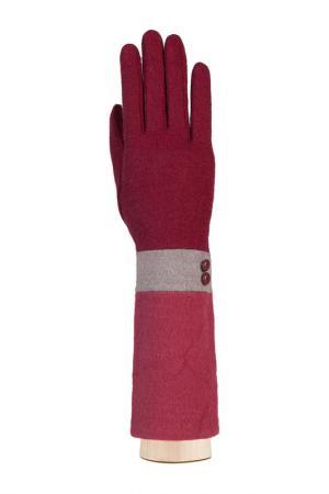 Перчатки Labbra. Цвет: бордовый