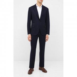 Шерстяной костюм Brunello Cucinelli. Цвет: синий