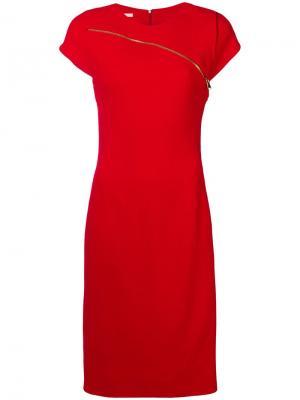 Zip detail midi dress Antonio Berardi. Цвет: красный