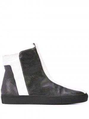 Ботинки с контрастными полосками Alberto Fermani. Цвет: черный