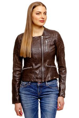 Кожаная куртка Denim 372188800711001 TOM TAILOR. Цвет: белый