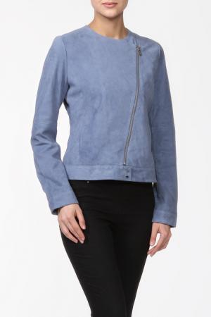 Кожаная куртка Tommy Hilfiger. Цвет: синий