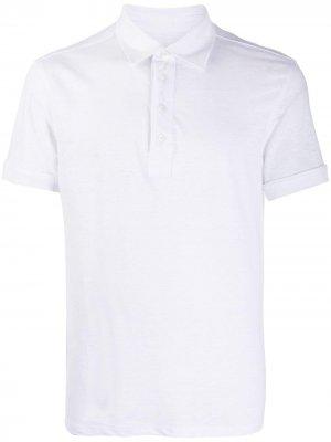 Рубашка-поло с короткими рукавами Ermenegildo Zegna. Цвет: белый
