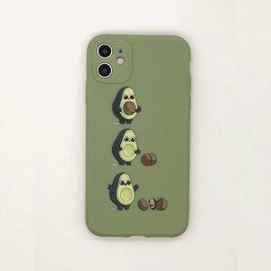 Чехол для iPad с авокадо и принтом SHEIN. Цвет: зелёные