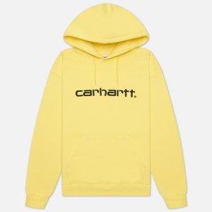 Женская толстовка W Carhartt Hooded 9 Oz WIP. Цвет: жёлтый