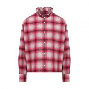 Шерстяная рубашка Isabel Marant Etoile. Цвет: розовый