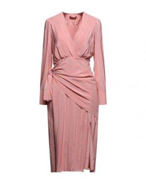 Платье длиной 3/4 ALTUZARRA. Цвет: розовый