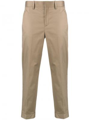 Классические брюки кроя слим Neil Barrett. Цвет: бежевый