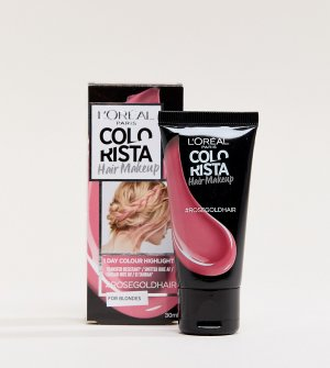 Временная краска для светлых волос цвета Rose Gold LOreal Paris Colorista Hair Makeup-Золотой L Oréal Pa
