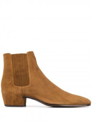 Ботинки челси Saint Laurent. Цвет: коричневый