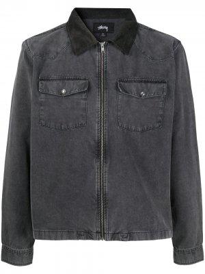 Куртка-рубашка Stussy. Цвет: черный